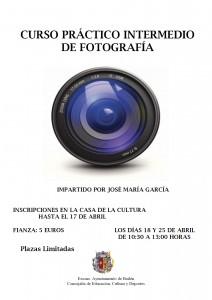 Cartel curso prácitco de fotografía 2015