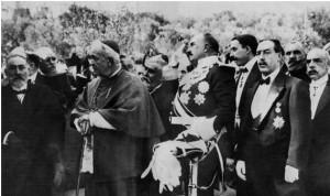 Imagen del día de la inauguración, 20 de octubre de 1912, monumento bendecido por el obispo de Jaén don Juan Manuel Sanz y Saravia.