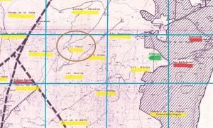 Mapa de los parajes y fincas bailenenses, extraído del libro Un viaje cartográfico y documental al Bailén antiguo (2014), de un servidor.