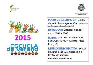 Cartel Escuela de Verano 2015 Bailén_jpeg
