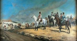 La Batalla de Bailén (obra del siglo XX. Copia de Briones. Diputación Provincial de Jaén. El original, de 1895, es obra de Manuel Picolo López y se encuentra en el Ayuntamiento de Bailén.