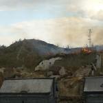 Alerta por un incendio en un solar de la avenida Linares