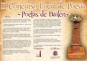 CARTEL II CONCURSO POESIA POETAS DE BAILEN