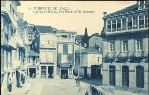 Plaza CANTÓN DE BAILÉN. Monforte de Lemos (Lugo). Tarjeta postal.