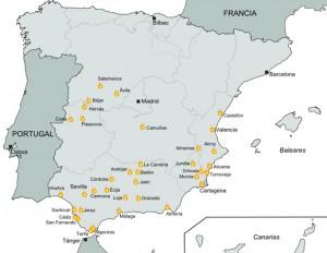 Focos de la Revolución cantonal de 1873. Conflictos en la I República Española.