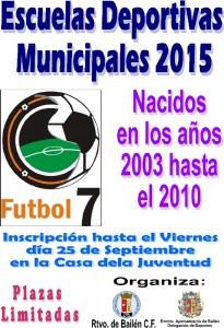 Escuelas Deportivas Municipales de Fútbol 7