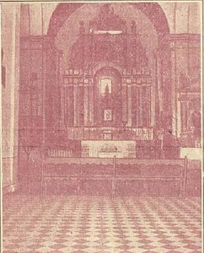 Retablo del templo, antes de su destrucción (Programa de Fiestas de 1929)