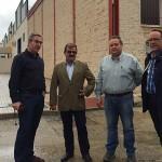 El diputado de Infraestructuras visita el polígono El Cruce