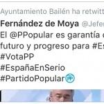 El PSOE denuncia el uso de una cuenta oficial del ayuntamiento para pedir el voto al PP