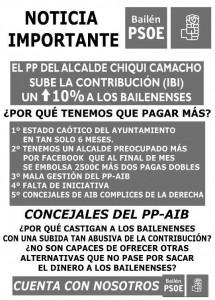 Panfleto PSOE IBI