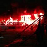 Sobresalto por un incendio en el circo instalado en la localidad