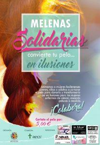 cartel melenas_solidarias bailénr