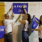 Arranca la campaña electoral con la pegada de carteles