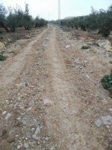 Camino Cuesta Juripe antes de su arreglo