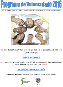 cartel programa voluntariado
