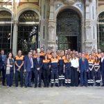 Susana Díaz se reune con las agrupaciones de Protección Civil entre ellas la de Bailén