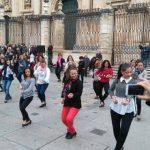 Un flashmob junto a la Catedral de Jaén para celebrar el Día Internacional del Flamenco