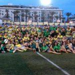 Primer encuentro como local y primera victoria del Rugby Baécula